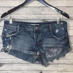 Trafaluc Zara Denim Shorts Size 6